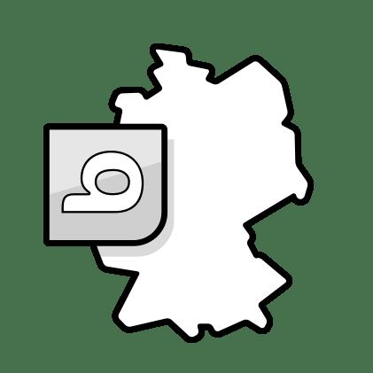 Ilustración: un mapa de Alemania con el logotipo de bett1