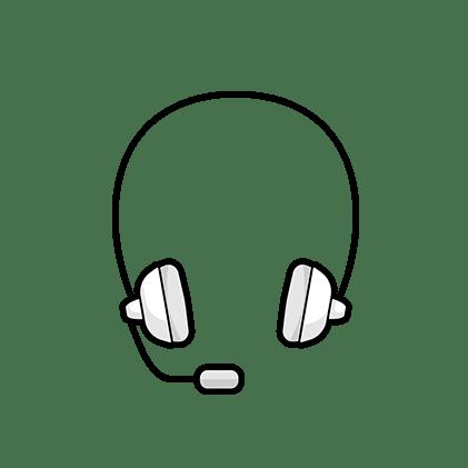 Ilustración: un auricular con micrófono